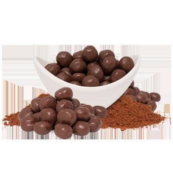 Boules de soja chocolatées