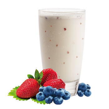 Préparation pour boisson à saveur de yogourt et fruits sauvages