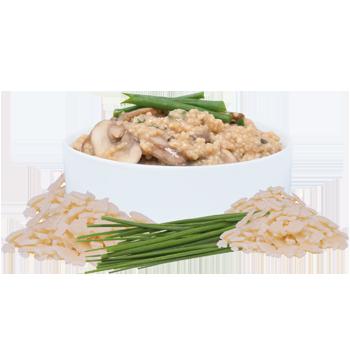 Risotto de couscous aux champignons et parmesan